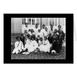 Cartão Festa de casamento India 1898 de Parsee