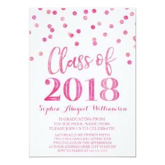 Cartão Festa de formatura cor-de-rosa da foto dos
