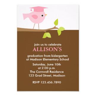 Cartão Festa de formatura cor-de-rosa das meninas do