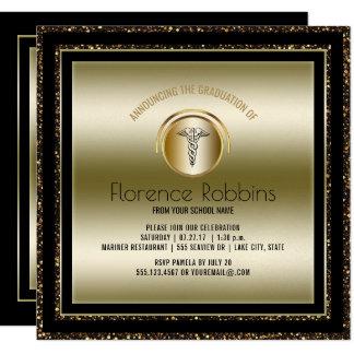 Cartão Festa de formatura da enfermeira do ouro | RN que