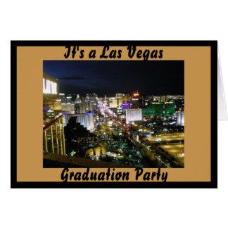 Cartão Festa de formatura de Las Vegas