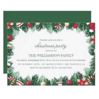 Cartão Festa de Natal botânica festiva da beira