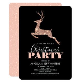 Cartão Festa de Natal cor-de-rosa elegante dos cervos do