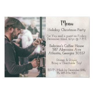 Cartão Festa de Natal fácil do estilo do menu da