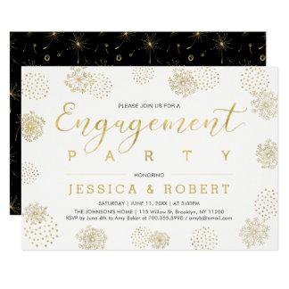 Cartão Festa de noivado à moda simples do casamento do