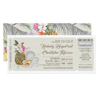 Cartão Festa de noivado da praia do abacaxi   da passagem