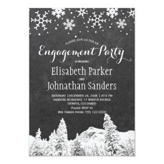 Cartão Festa de noivado do país das maravilhas do inverno