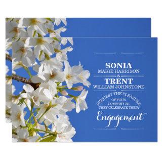 Cartão Festa de noivado do primavera da flor de cerejeira