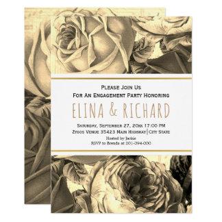 Cartão Festa de noivado floral do casamento do rosa do