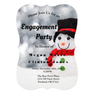 Cartão Festa de noivado rústica do Natal do país