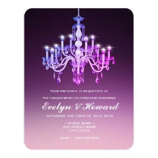Cartão Festa de noivado Venetian elegante do candelabro  