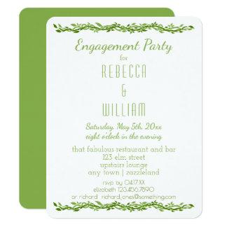 Cartão Festa de noivado Wedding Woodsy da videira da