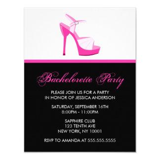 Cartão Festa de solteira cor-de-rosa do estilete