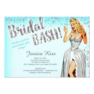Cartão Festa de solteira nupcial da noiva do Pinup do