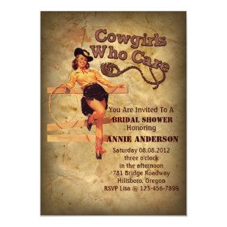 Cartão Festa de solteira rústica do vaqueiro do país