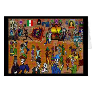 Cartão Festa del diâmetro de Los Muertos
