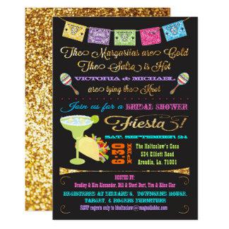 Cartão Festa do chá de panela do Tacos e dos casais do
