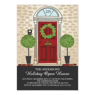 Cartão Festa em casa aberta do feriado original