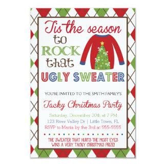 Cartão Festa natalícia feia foleiro da camisola