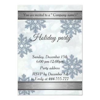 Cartão Festa natalícia na moda da empresa do bokeh do