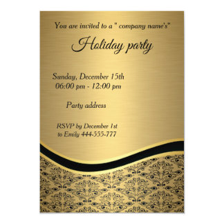 Cartão Festa natalícia na moda elegante do damasco do