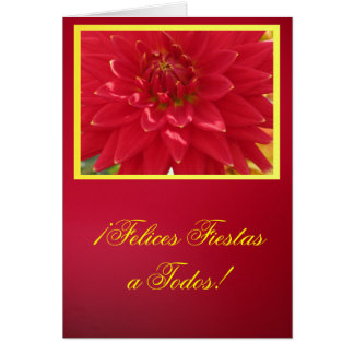 Cartão - festas de Felices do ¡ um TODOS! - La