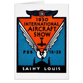 Cartão Festival aéreo 1930 de St Louis
