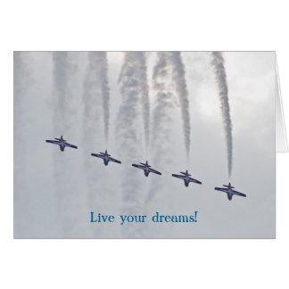 Cartão Festival aéreo vive seus sonhos