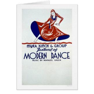 Cartão Festival da dança moderna WPA 1938