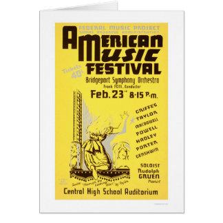 Cartão Festival de música América WPA 1938