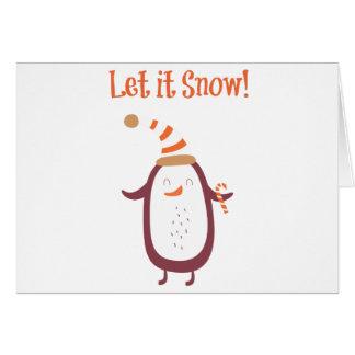 Cartão Festivo deixe-o nevar