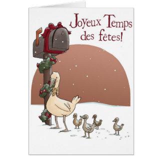 Cartão Fêtes do DES dos Temps de Joyeux