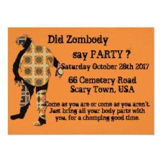 Cartão Fez Zombody para dizer o partido