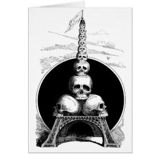 Cartão Figaro. Uma torre Eiffel para o cemitério