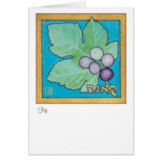 Cartão Figo, uma das sete espécies de Israel