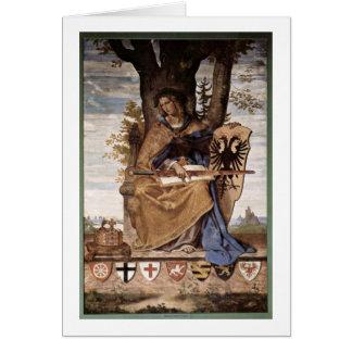 Cartão Figura alegórica de Germania por Veit Philipp