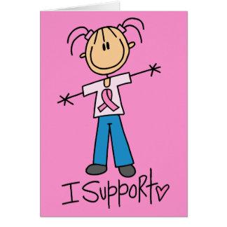 Cartão Figura apoio ao cancer de mama da vara