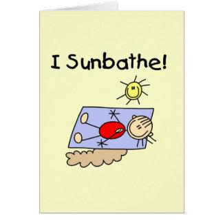 Cartão Figura camiseta e presentes da vara do Sunbather