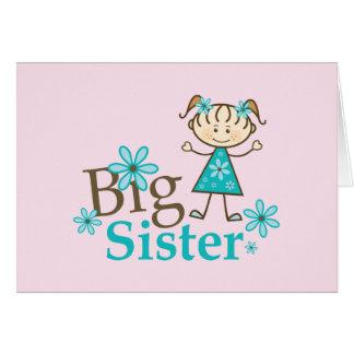 Cartão Figura da vara da irmã mais velha