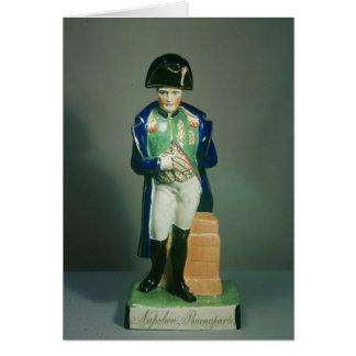 Cartão Figura de Staffordshire de Napoleon Bonaparte