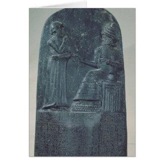 Cartão Figura do alivio do deus Shamash que dita leis