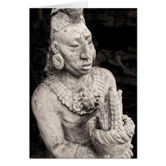 Cartão - figura maia antiga - México