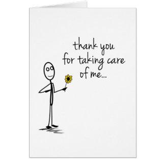 Cartão Figura obrigado da vara você nutre Notecard
