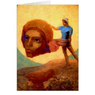 Cartão Figura por Odilon Redon