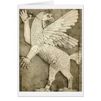 Cartão Figura voada mitológica