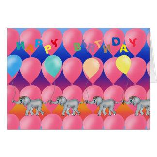 Cartão Fileira do elefante pelos Feliz Juul Empresa