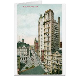 Cartão Fileira do parque, New York