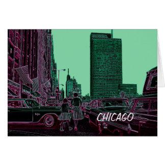 Cartão Filha da mãe que compra a avenida Chicago 1961 de