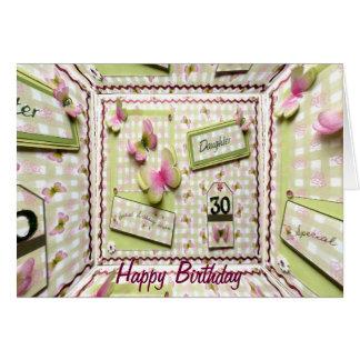 Cartão Filha do aniversário de 30 anos