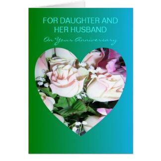 Cartão Filha e marido felizes do aniversário de casamento